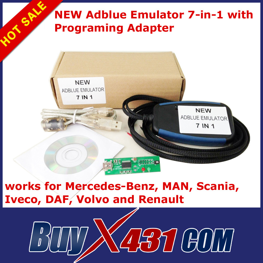 2014 Hot selling Truck Adblue Emulator 7 in 1 for Benz MAN Scania Iveco DAF Volvo Renault - 100% Quality A With Free Shipping(China (Mainland))
