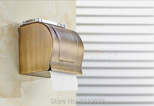 Newly US Retail Vintage Antique Brass Toilet Tissue Paper Holder Waterproof Box Solid - super Sanitary ware factory store