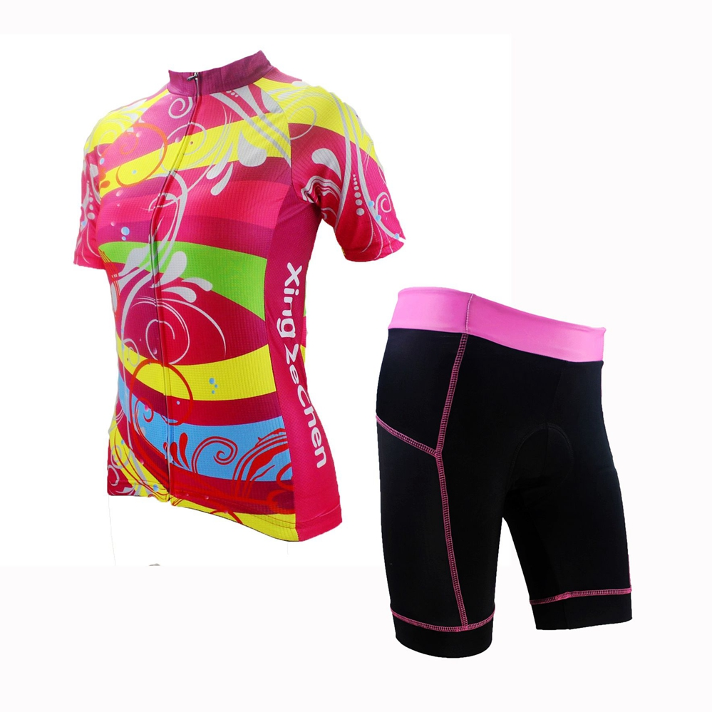 XINZECHEN New Women Bike Clothing Suits Colorful Cycling Jersey Shorts Sets Bicycle Top Cycling Wear Shirts mtb Jackets CD6706<br><br>Aliexpress