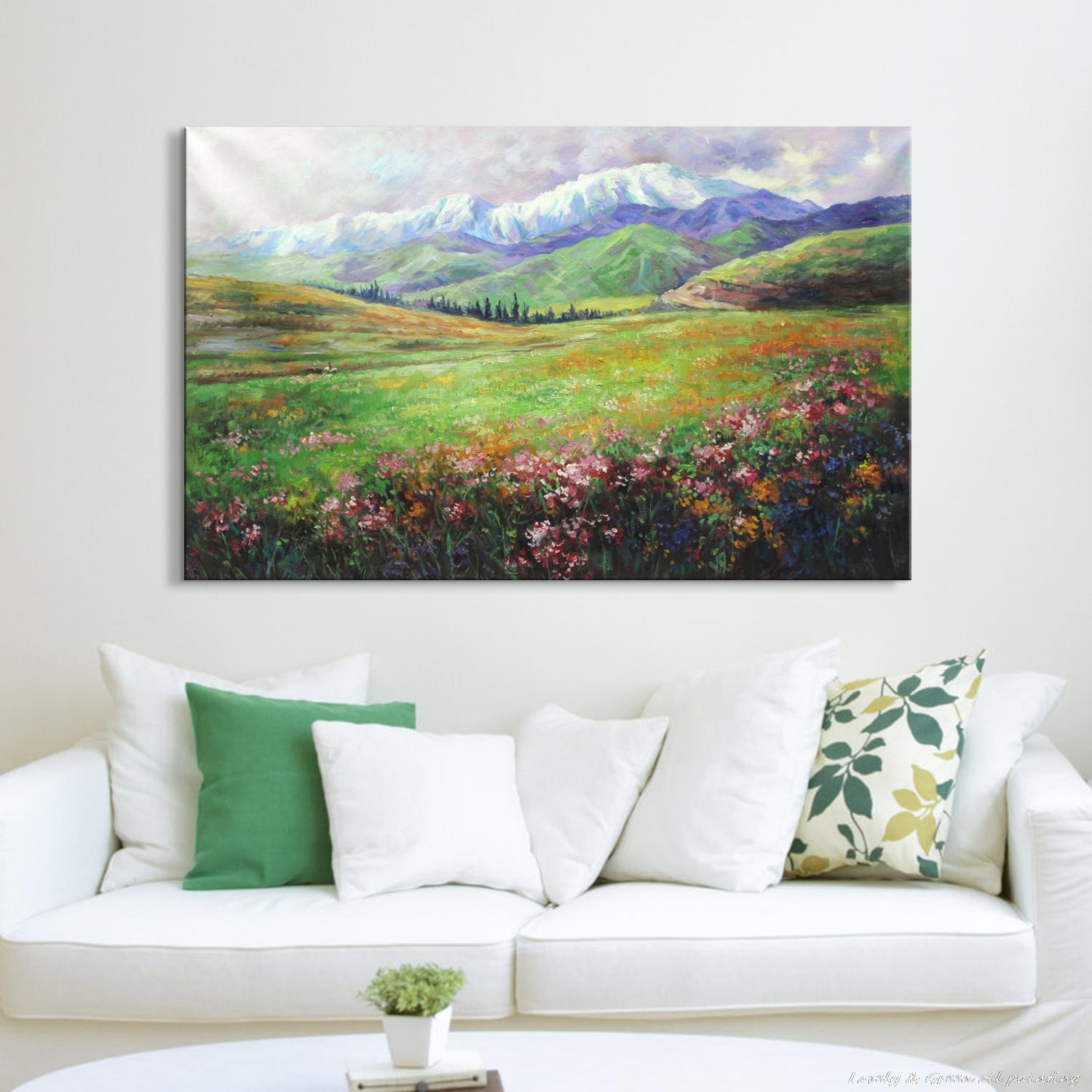Popular spring landscape paintings buy cheap spring landscape paintings lots from china spring - A beautiful painting on wall ...