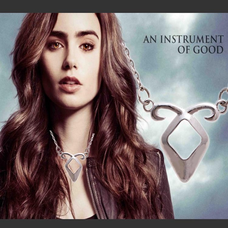 European And American Fashion Jewelry Necklace Movie Angel Rune Power Mortal Instruments City Of Bones Rune Pendant Necklace(China (Mainland))