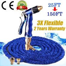 Expandable Flexible 150ft Garden Hose With Copper Connector High Quality Magic retractable Garden Water Hose+copper Spray Gun(China (Mainland))