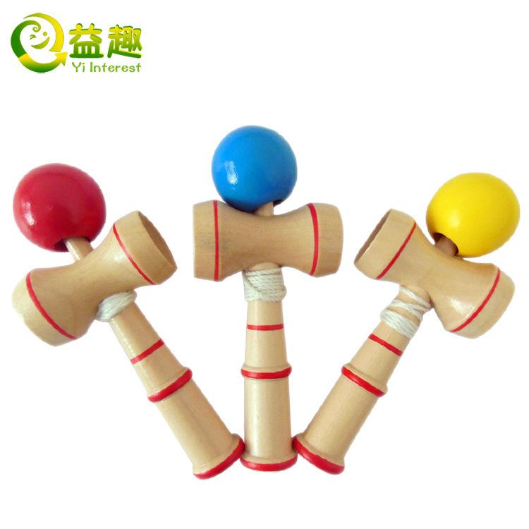 150pcs mini 13cm kendama professional sword ball skills ball wood educational Traditional Toys(China (Mainland))