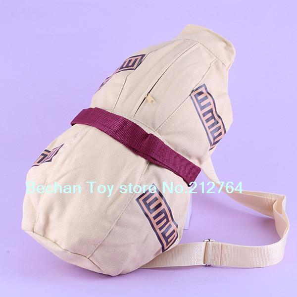 Naruto Gaara bag The gourd Canvas backpack Naruto Shippuuden Japanese Anime Cosplay Satchel Haversack Chest Bag school bag(China (Mainland))
