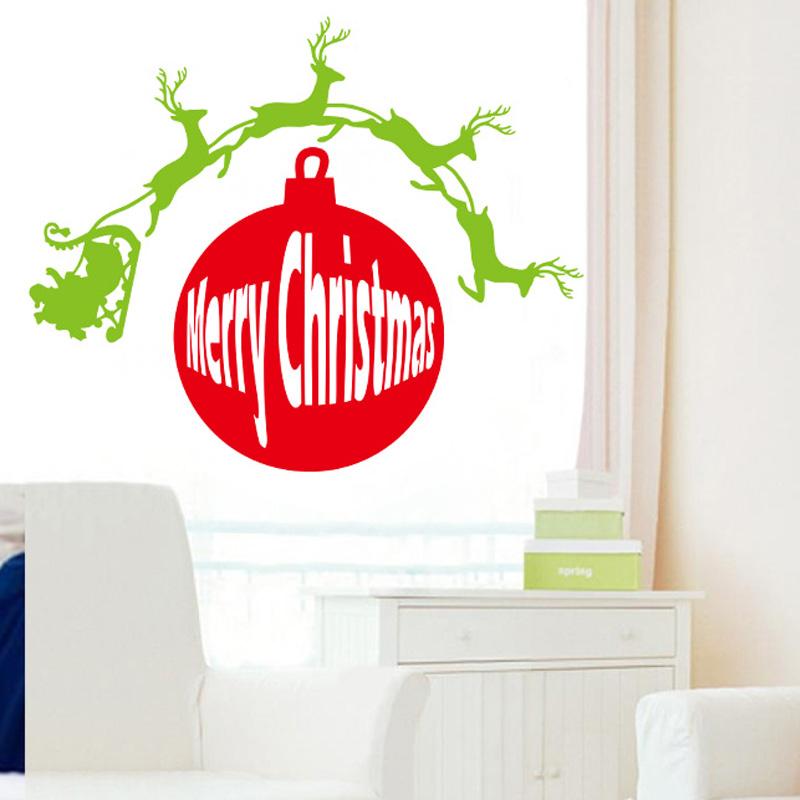 Buy merry christmas reindeer wall for Christmas wall mural