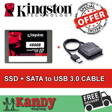 Kingston ssd 500GB hdd 480gb + SATA to usb 3.0 hhd external hard flash drive externo notebook computer portable solid state disk(China (Mainland))