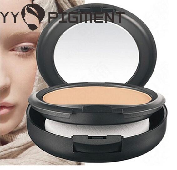 Wholesale- 1Pcs Professional Makeup STUDIO FIX POWDER PLUS FOUNDATION FOND DE TEINT POUDRE 15g face powder NC20-NC45(China (Mainland))