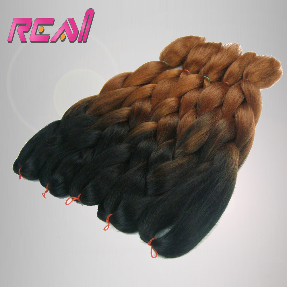 8Packs 24 100g Black And Dark Brown Ombre Two Tone Colored Kanekalon Xpression Jumbo Box Braiding Synthetic Dreadlocks Hair<br><br>Aliexpress