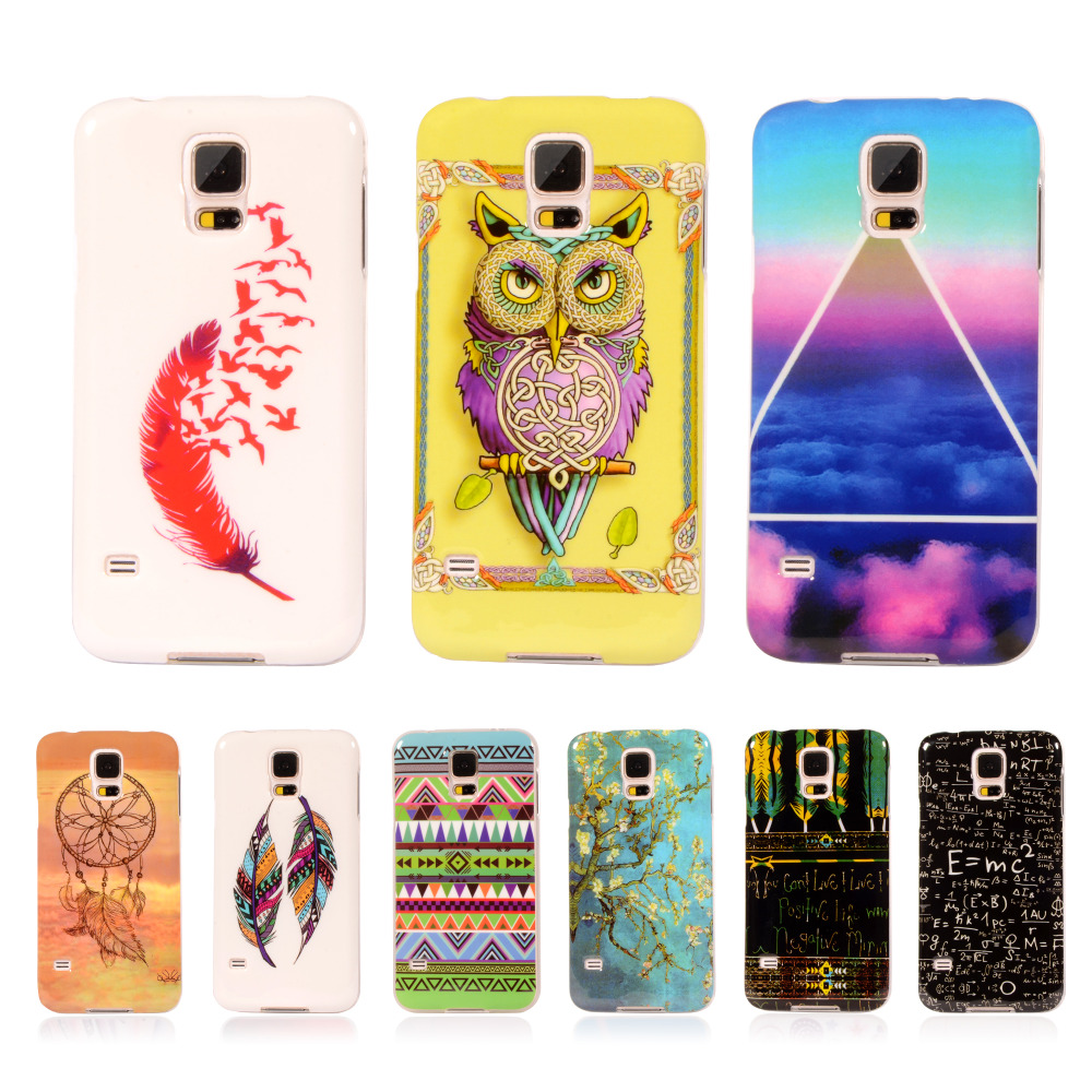 """Pattern Rubber Tribe TPU Cover For Samsung Galaxy S5 Mini S5Mini G800 4.5"""" With Gel Silicone Case Mobile Phone Protective Case(China (Mainland))"""