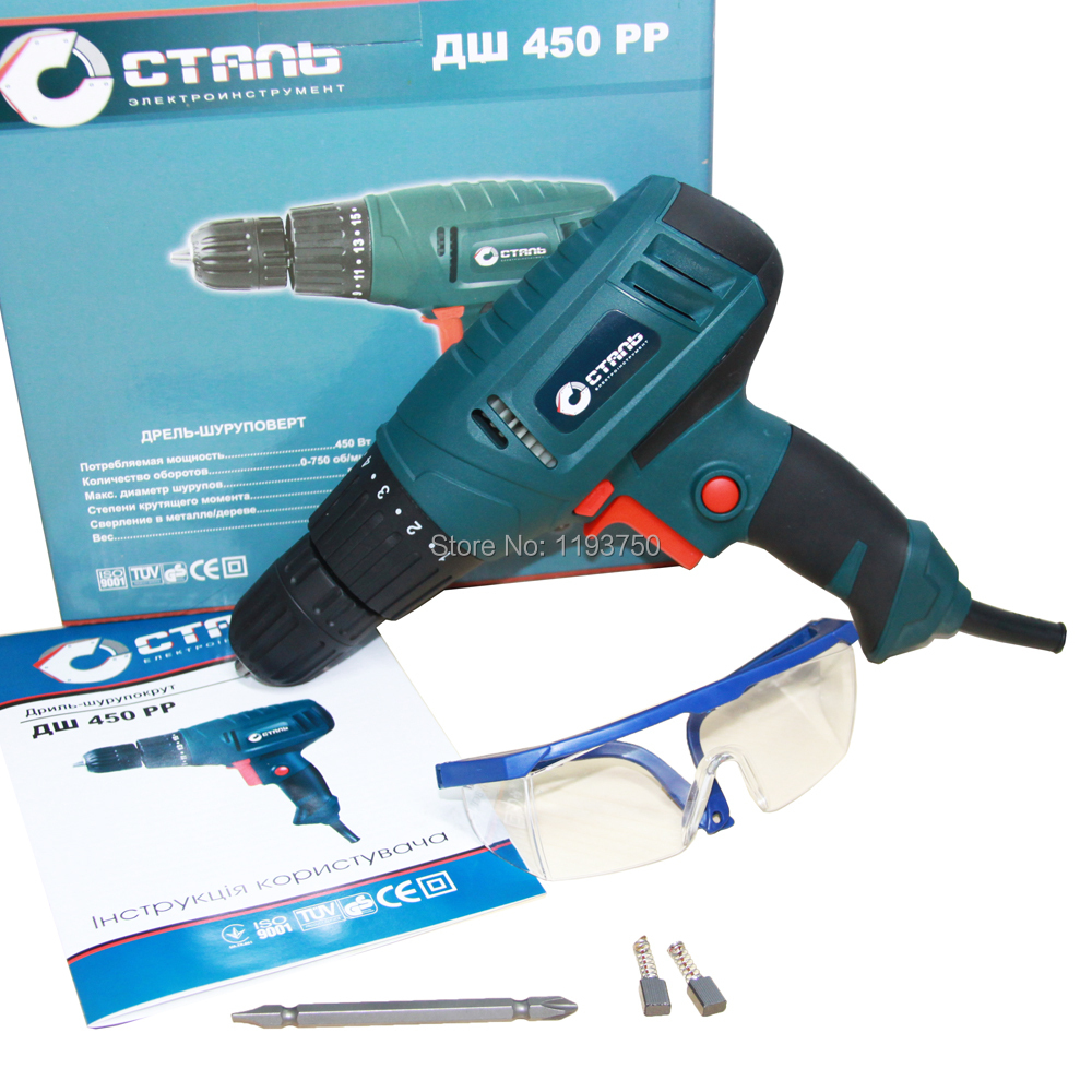 Free Shipping 220V 450W Electric Screwdriver Drill Parafusadeira with Adjustable Torque Setting Power tools(China (Mainland))