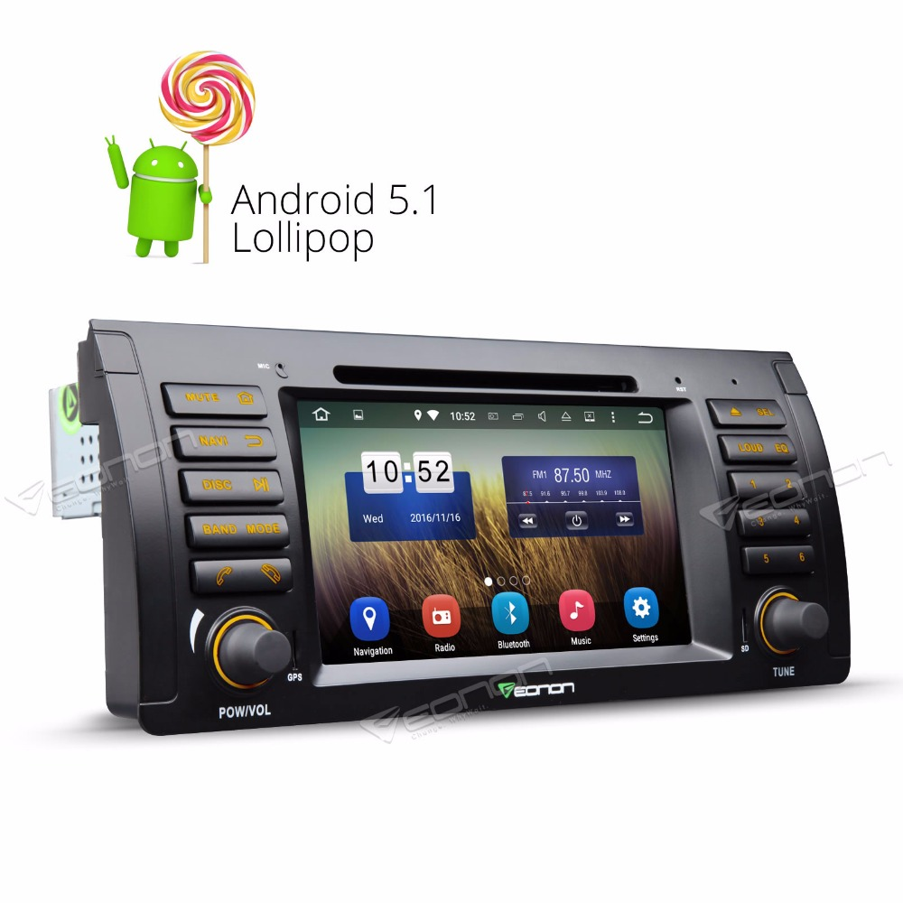 7 Android 7 1 Car DVD GPS Navigation for BMW M5 X5 E53 E39 Quad Core 2G+16G