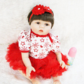 22 silicone reborn dolls dress dress princess girl doll real soft touch best children bebe gift