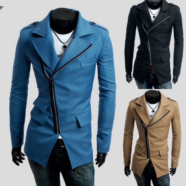 New Promotion Winter Coat Mens Jacket Casual Stylish Design Slim Fit Blazers Coats and Suit Jackets Zipper Overcoat C007Одежда и ак�е��уары<br><br><br>Aliexpress