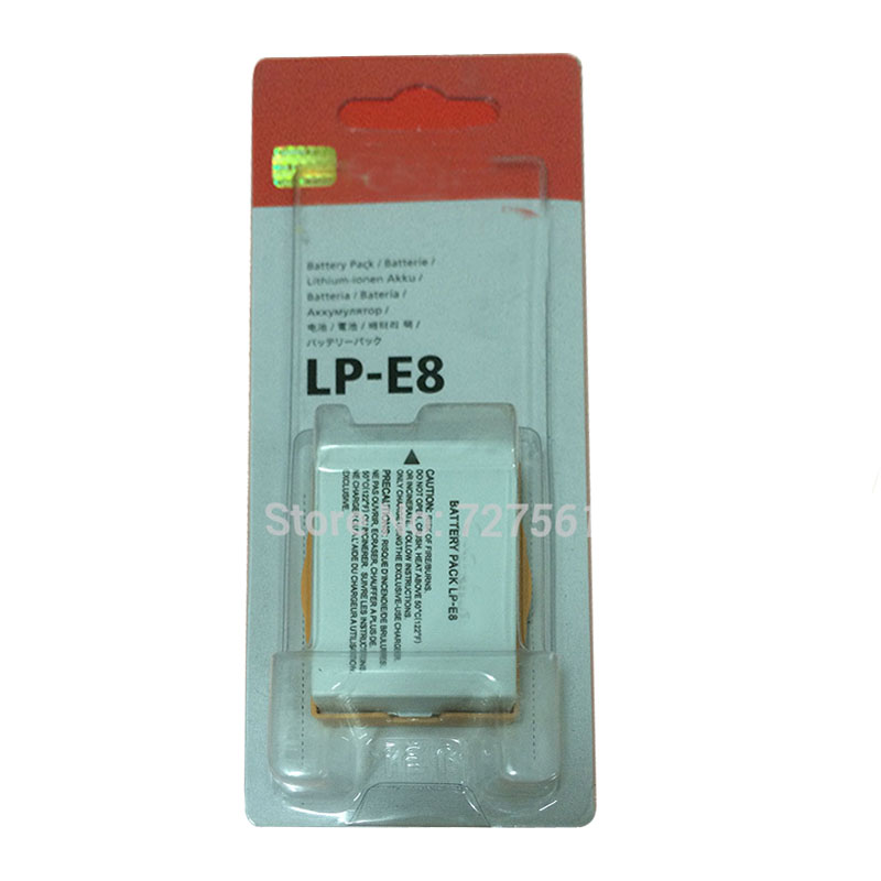 LP-E8 LP E8 LPE8 Camera Battery Pack For Canon EOS 550D 600D 650D 700D Kiss X4 X5 X6i X7i Rebel T2i T3i T4i T5i Batteries(China (Mainland))