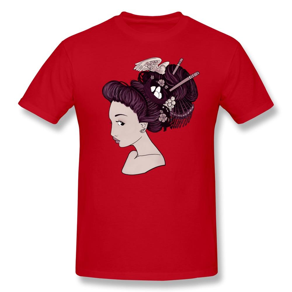 Short Sleeve Top Designer Bird Girl (Purple) men t shirt Cheap Sale Organic Cotton tee shirt for men(China (Mainland))