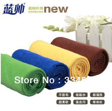 10pcs/lot Free shipping Car Wash Microfiber towel 33 * 33 car wash towel Cleaning towel high quality automotive products(China (Mainland))