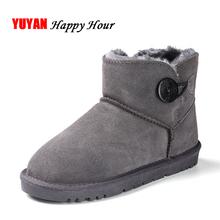 2016 Zapatos del Invierno Mujeres Nieve Botas de Cuero Nobuck de Moda Marca de Invierno Botas de Piel Caliente Botas de Tobillo Dulce Señoras de Las Mujeres CH1488(China (Mainland))