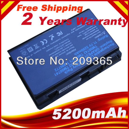 6cell 5200mah battery for AcerBattery for ACER TravelMate 5520 Extensa 5210 5220 7620G 7220 5630G 5620G 5420G(China (Mainland))
