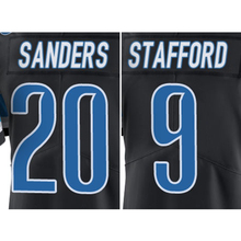 Men's #9 Matthew Stafford #20 Barry Sanders Jerseys Adult Black Color Rush Limited Jersey Free Shipping(China (Mainland))