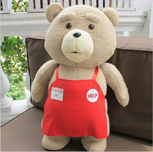 2015 Movie Teddy Bear Ted 2 Plush Toys In Apron cute Soft Stuffed Toys Animals Ted Bear Plush Dolls kids birthday gifts(China (Mainland))
