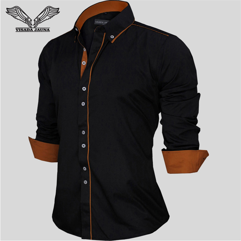 European size men 39 s shirts spring new fashion solid male for European mens dress shirts