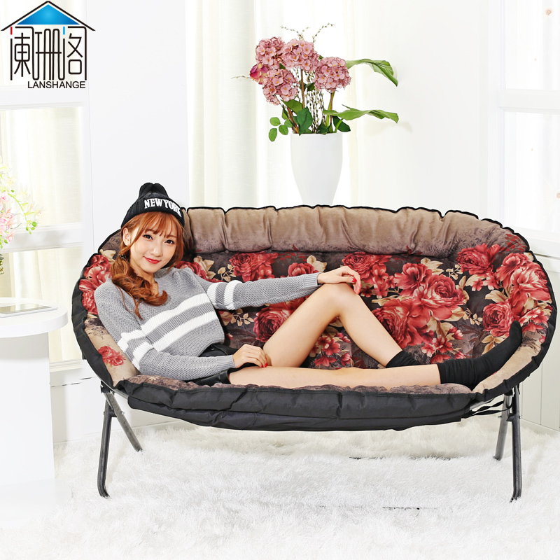 Ou a beanbag Double folding chairs The bedroom sofa chair(China (Mainland))