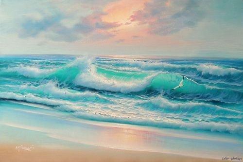 Carribean Sky Acrylic Paintings