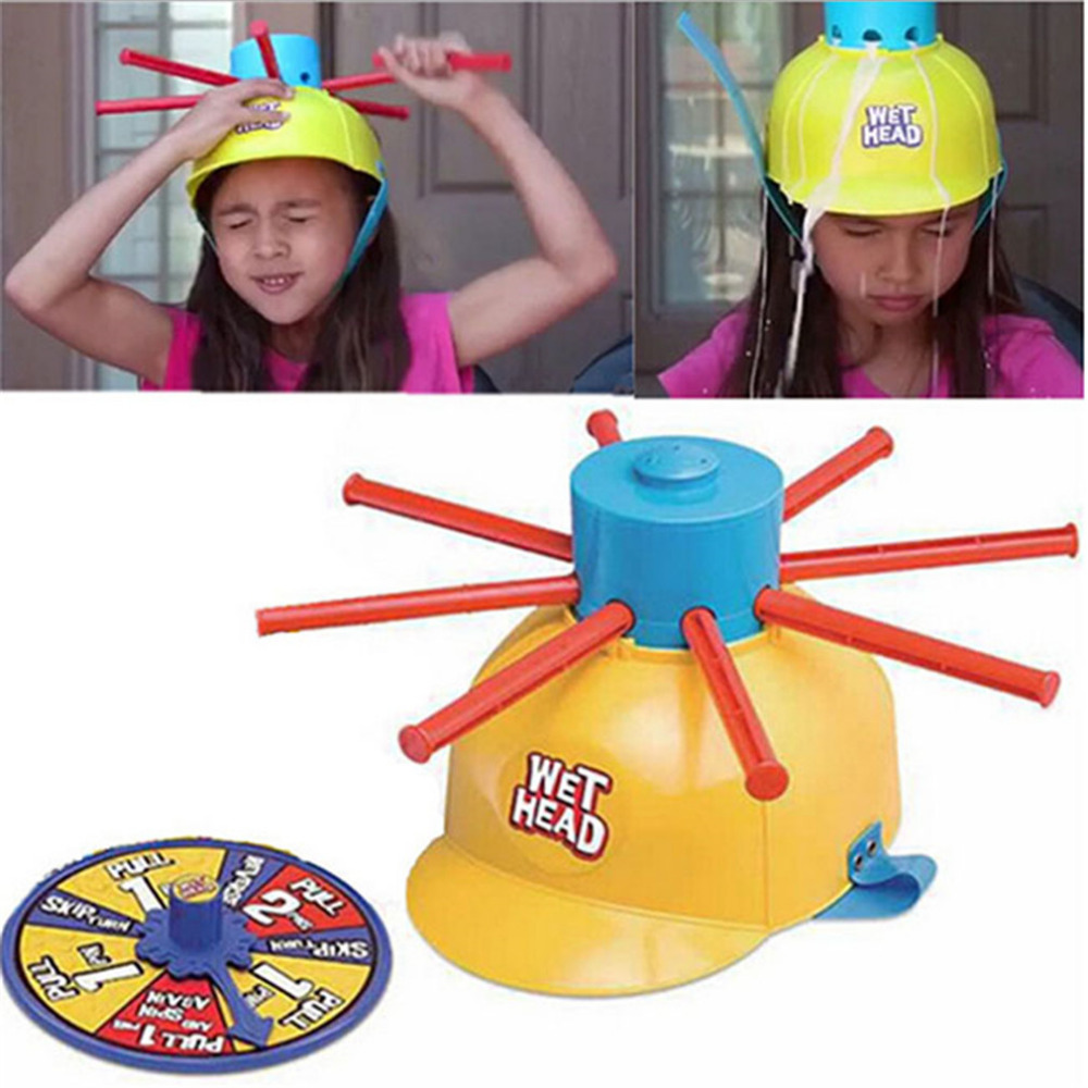 Wet Head Hat Water Game Challenge Wet Jokes And toy funny Roulette Game toys Gags & Practical Jokes For April Fools' Day(China (Mainland))