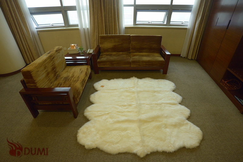 1Piece Free Shipping Large Home Area Rugs & Carpets Nature Sheepskin Leather, Fur & Plush Sheepskin Rugs 6ftx7ft(China (Mainland))