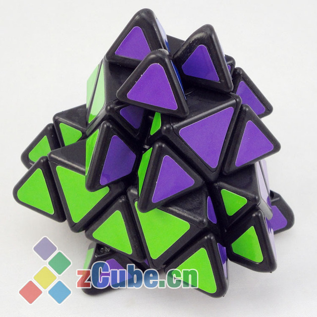 Triangle magic cube shaped magic cube black