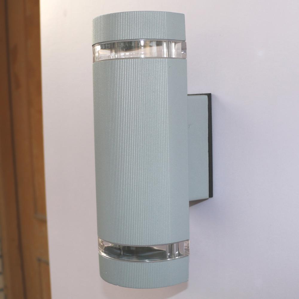 14W Semi Cylinder Up/Down Indoor/Outdoor Exterior Garden Wall Light Sconce Lamp Fixture Kit Warm ...