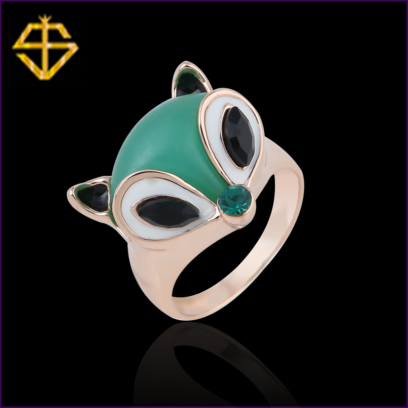 SI Hot Sale Summer Fox Ring Style Witness The Perfect Love Fingers Of Light So That You Become The Protagonist Of The Brightest(China (Mainland))