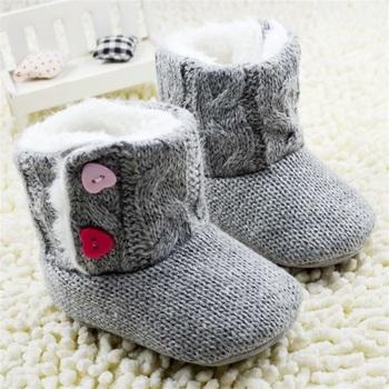 Новый 3-18 M Мода Супер Теплая Зима Детские Лодыжки Снегоступы Infant Shoes Девушки Парни Противоскользящие Согреться Ребенка Малыша Ботинки Shoes