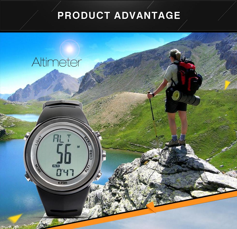 EZON Походы Альпинизм Смотреть спортивные часы многофункциональный Цифровой мужчины часы водонепроницаемый давление высота H009A15