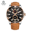 Luxury Brand OCHSTIN Chronograph Casual Watches Men Quartz Military Sport Genuine Leather Men s Wrist watch