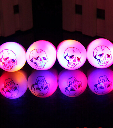 Wholesale Fun Party Favors Flashing Skull Party Finger Rings LED Light up Dark Halloween Party Supplies Gift YH176(China (Mainland))