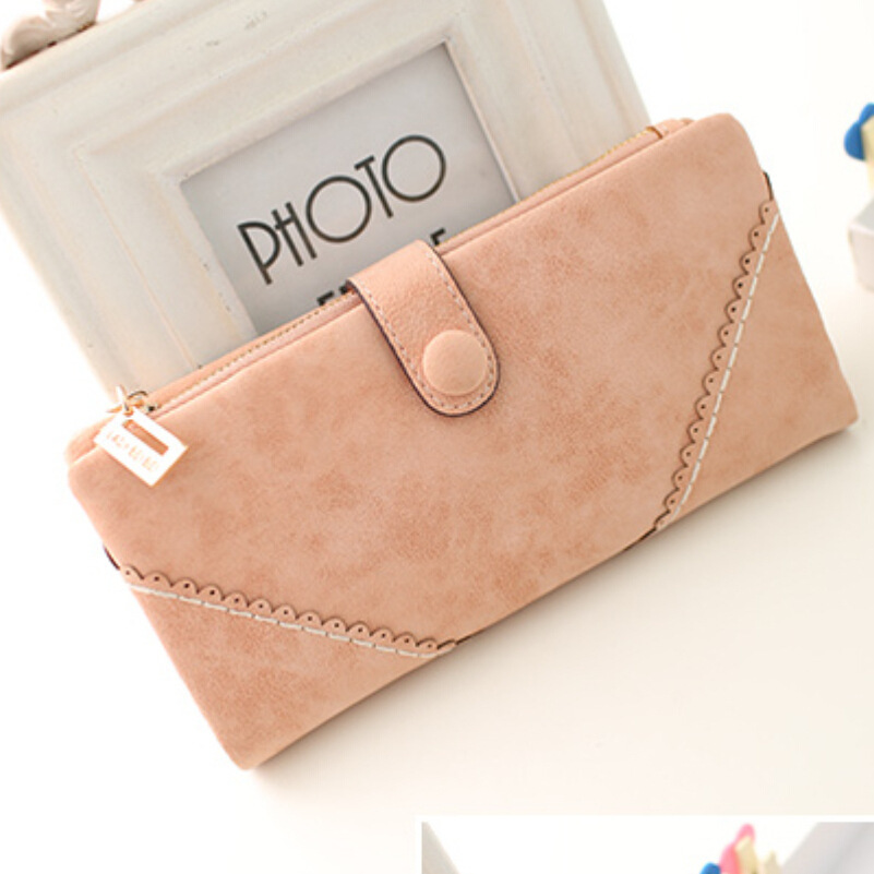 2015 new women wallets Coin Case purse for phone Card Wallet Leather Purse Ms frosted long purse vintage buckles lace wallet<br><br>Aliexpress
