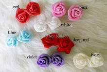3cm foam rose artificial flower handmade DIY wedding home decoration  flower PE rose free shipping(China (Mainland))