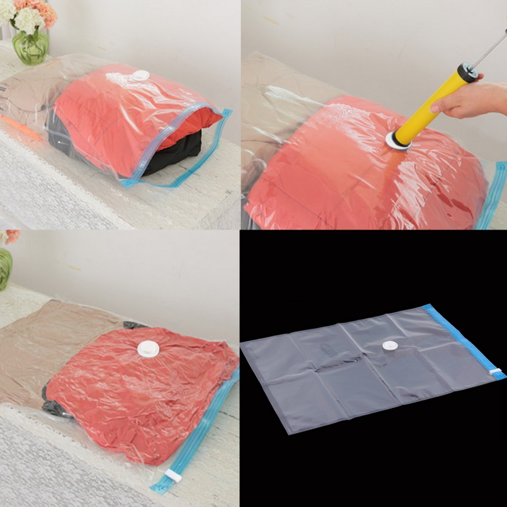 Large Space Saver Saving Storage Bag Vacuum Seal Compressed Organizer Popular New(China (Mainland))