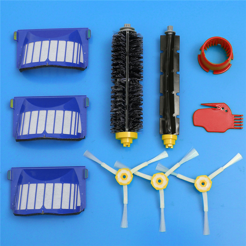 Aerovac Filter+ Side Brush+Bristle and Flexible Beater Brush + Cleaning Tools for iRobot Roomba 600 610 630 650 660(China (Mainland))