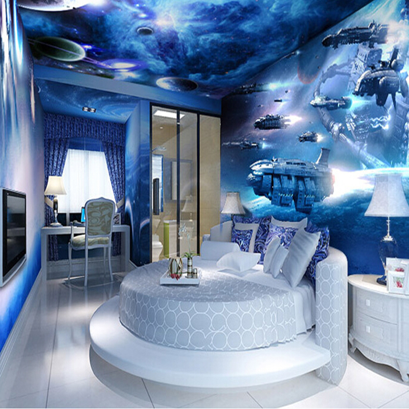 Image gallery night sky wallpaper bedroom for Ceiling mural in a smoker s lounge