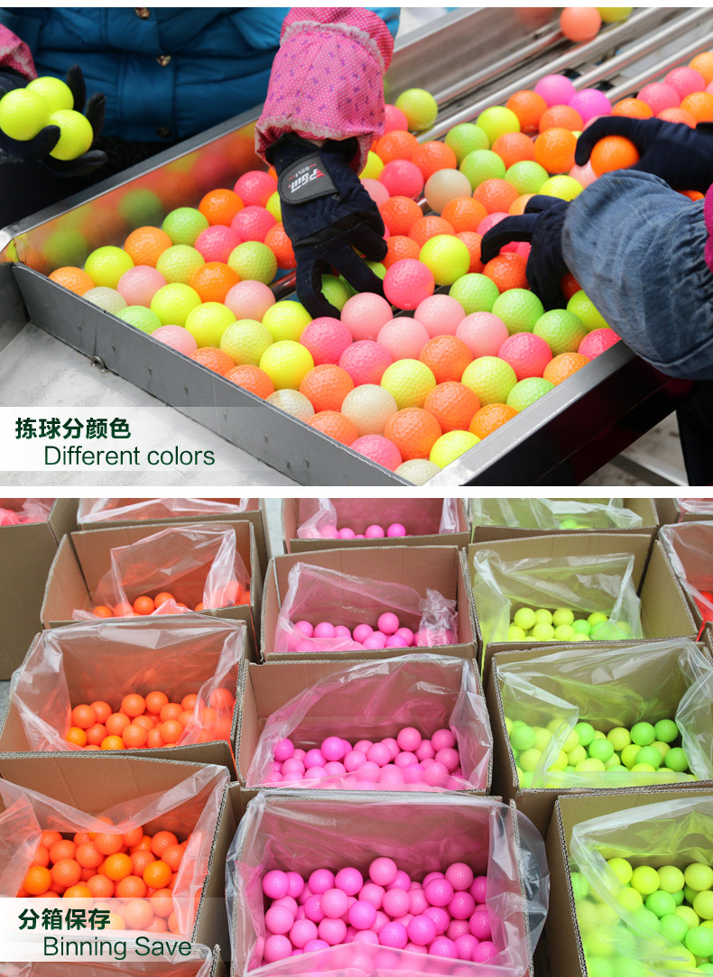 Top quality Colorful Golf Balls Golf exercise balls special for Golf practice field(China (Mainland))
