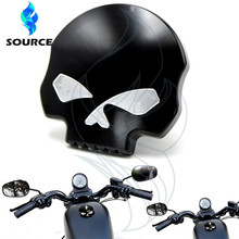 For Harley Sportster Dyna Softail FXD FL XL FLT black motorcycle Accessories skull aluinum fueml gas oil tank cover hot sale
