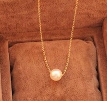 2015new type Hot sales Brand Design Fashion Vintage Elegant Charm Simple Generous Pearl Pendent Chain necklace Jewelry Wholesale(China (Mainland))