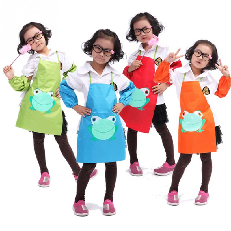 Hot new lovely Kids Cartoon Printed Painting Cooking Apron Cute Child Children Waterproof children Apron(China (Mainland))