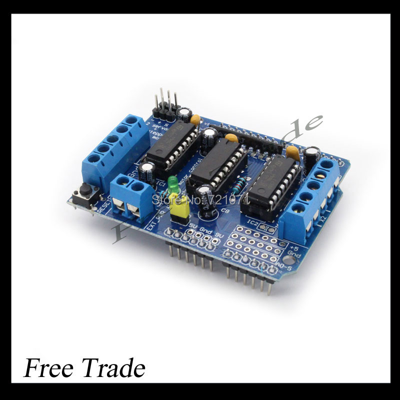Freeshipping ! L293D motor control shield motor drive expansion board FOR Arduino motor shield ,best price(China (Mainland))