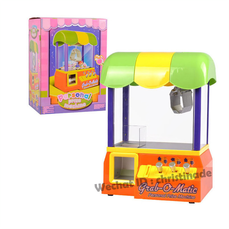 New Free shipping Grabber Machine Candy Toy Game Arcade Electronic Claw Led Lights W Kids Fun(China (Mainland))