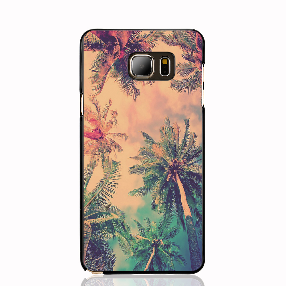 06872 Nature Coconut Tree cell phone case cover for Samsung Galaxy Note 3,4,5,E5,E7 CORE Max G5108Q(China (Mainland))