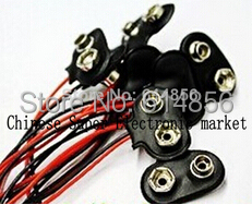 200pcs 9V Battery Snap Connector clip Lead Wires holder(China (Mainland))