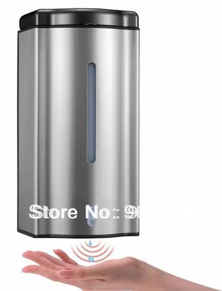 Hot sell WC bathroom public location 600ml wall hung 4xAA  batteries Infrared Sensor automatic touch free liquid soap dispenser